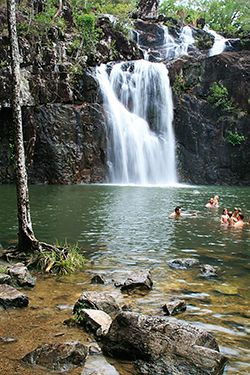 Cedar Creek Falls, between Proserpine and Airlie Beach in the Whitsunday region of Queensland, Australia.
