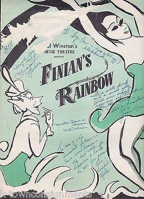 FRANK McHUGH FINIANS RAINBOW VINTAGE CAST AUTOGRAPH SIGNED PLAYBILL & PHOTOS LOT