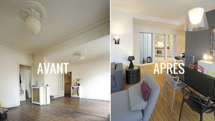 Avant apr s clarifier l 39 espace s jour et le mettre en - Petit appartement dote dun confortable espace de rangement ...