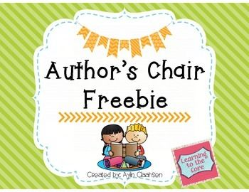 Freebie- cute author's chair posters and sign up sheet!