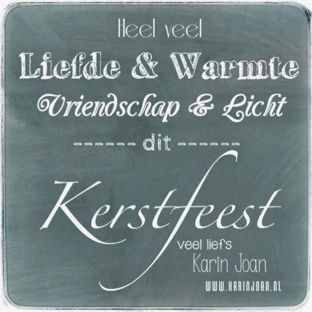 Kerstwensen, typography, Karin Joan