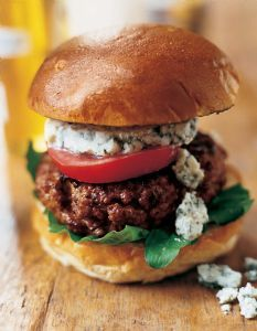 Blue Cheese Burgers- make this with #Gardein beefless burgers and if your a vegan like me use Black Duck Imports Blue Cheese it will blow your mind that its not the real thing!!!!