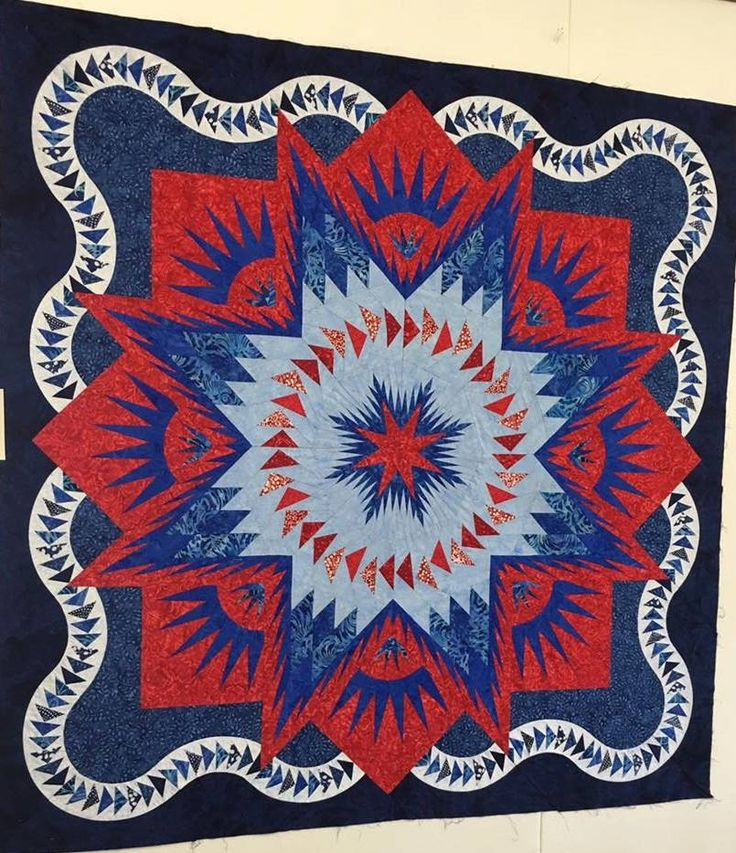 Glacier Star, Quiltworx.com, Made by CI Cindy Haddick