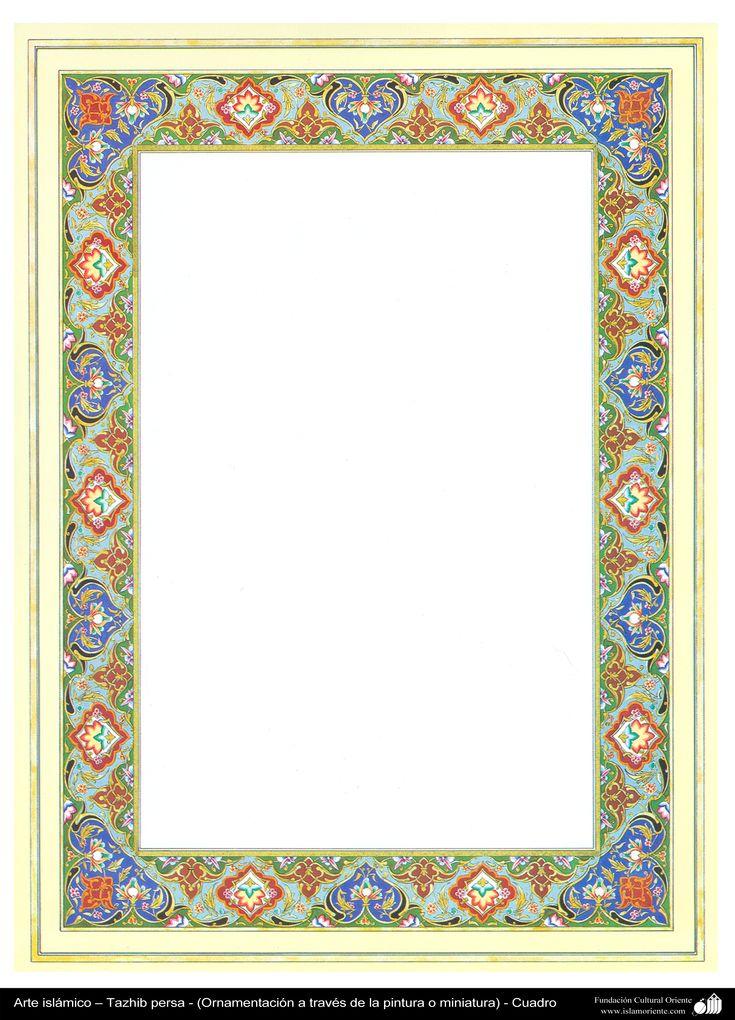 Arte islámico – Tazhib persa - cuadro - 86 | Galería de Arte Islámico y Fotografía