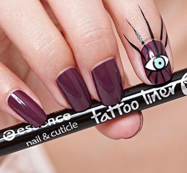 nail & cuticle tattoo liner 01 black - essence cosmetics