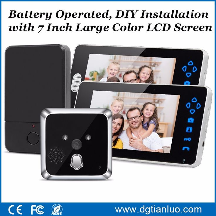 """7"""" Inch HD Color Display Electronic Viewer Cat Eye Doorbell Camera Peephole"""