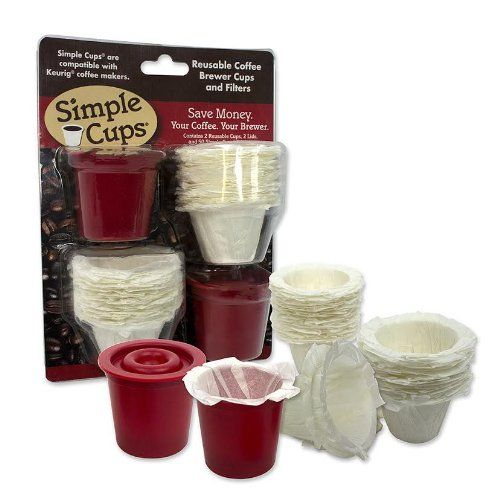 Reusable Coffee K-cup* Cups (Set of 2) with 50 Filters - 100% Compatible with Keurig* - http://teacoffeestore.com/reusable-coffee-k-cup-cups-set-of-2-with-50-filters-100-compatible-with-keurig/