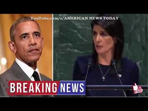 Nikki Haley Blows Doors Off UN With Speech About Obama's Incompetence, He Looks Like a FOOL - YouTube