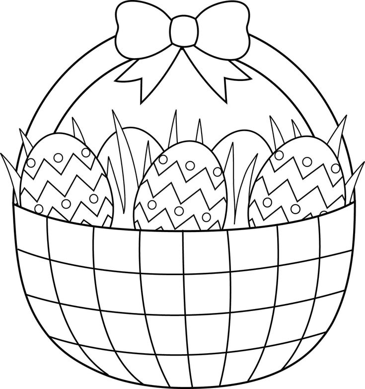 Easter Basket Coloring Pages Download And Print For Free