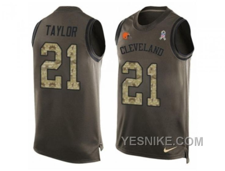 http://www.yesnike.com/big-discount-66-off-mens-nike-cleveland-browns-21-jamar-taylor-limited-green-salute-to-service-tank-top-nfl-jersey.html BIG DISCOUNT ! 66% OFF ! MEN'S NIKE CLEVELAND BROWNS #21 JAMAR TAYLOR LIMITED GREEN SALUTE TO SERVICE TANK TOP NFL JERSEY Only $26.00 , Free Shipping!