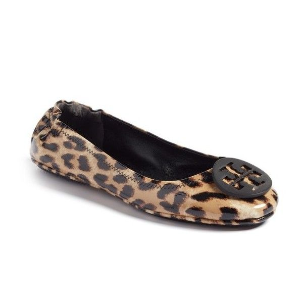 Women's Tory Burch 'Minnie' Travel Ballet Flat (£175) ❤ liked on