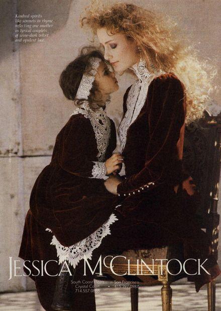 Jessica McClintock  Ad Campaign Fall/Winter 1987