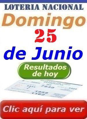 Sorteo Dominical del 25 de Junio 2017 Loteria Nacional de Panama