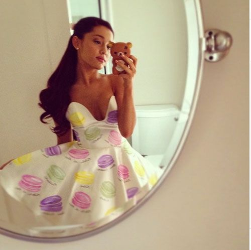 Tilt One Shoulder Forward - Ariana Grande Instagram Pictures ...