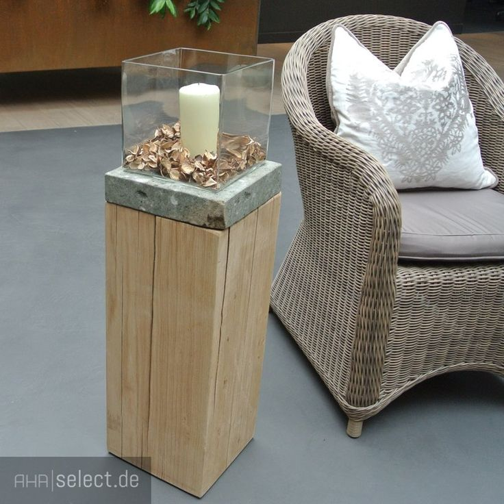 wohnmanufactur gr nberger s r o holz s ule eiche natur. Black Bedroom Furniture Sets. Home Design Ideas