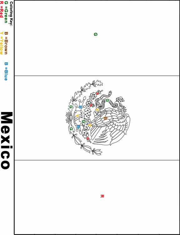 - Mexican Flag Coloring Sheet In 2020 Flag Coloring Pages, Coloring Sheets, Mexican  Flags