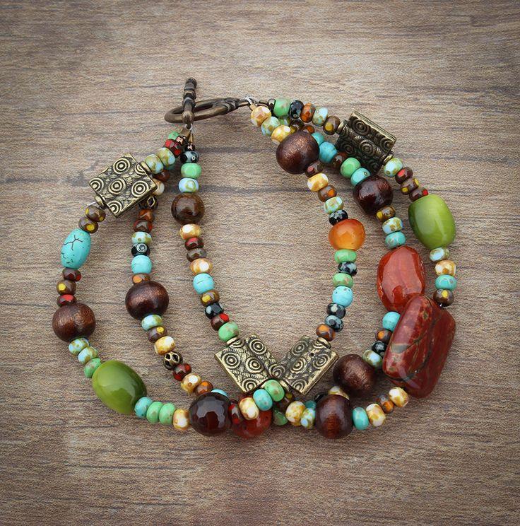 Bohemian Bracelet by InspiredTheory on Etsy