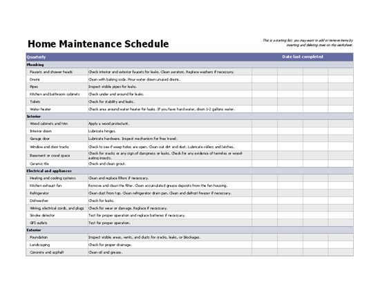 96 best Home Maintenance images on Pinterest Households - maintenance checklist template