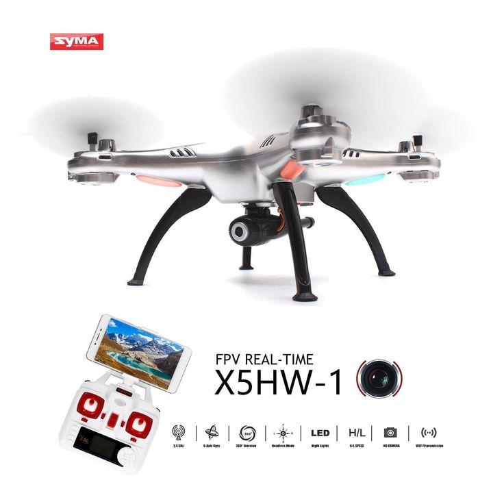 Syma X5HW-I Drone FPV con Video Cámara WayIn® 2.4Ghz 4CH 6 Axis Cuadricóptero Dron Wifi con Modo Headless y Función Alto mantenimiento (Plata): Amazon.es: Juguetes y juegos
