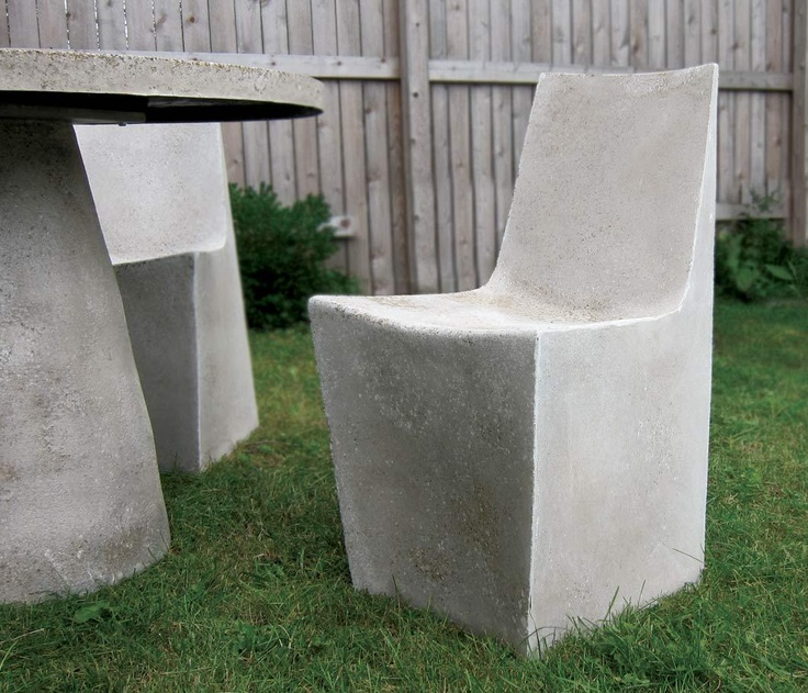 Zachary A. Design | Outdoor Furniture Designs - Furniture - Stone Dining Chair