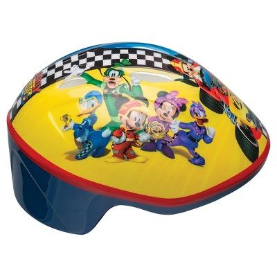 Mickey Mouse and the Roadsters Toddler Bike Helmet, Multi-Colored