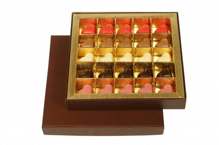 Luxe doos Valentijnbonbons - 25 stuks