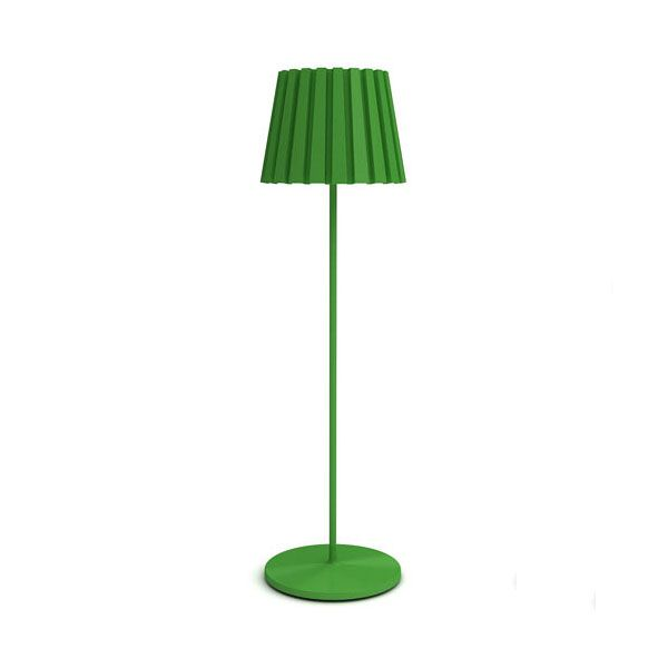 aluminum base Green Floor Lamp