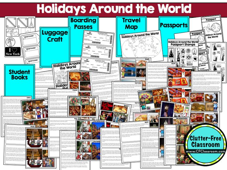 58 best HOLIDAYS AROUND THE WORLD ACTIVITIES CRAFTS and LESSON