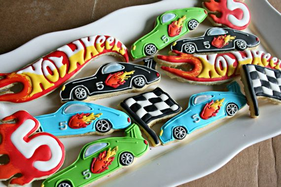 Hot Wheels Sugar Cookies-Race Car Cookies by MaMiMorCookies