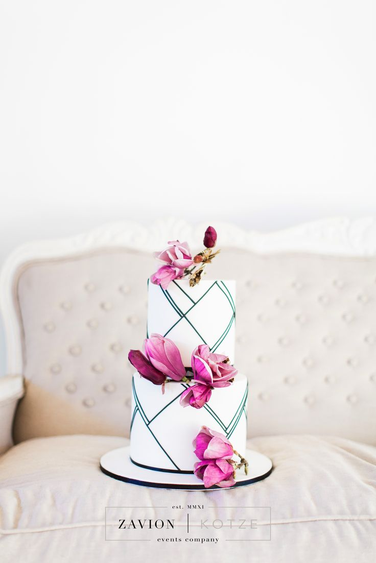 Beautiful magnolia wedding cake Magnolia Wedding. Purple, purple flowers, roses, elegant wedding. magnolia flowers, magnolia bride, best wedding ever. Cake by Kelly Jaynes in Johannesburg