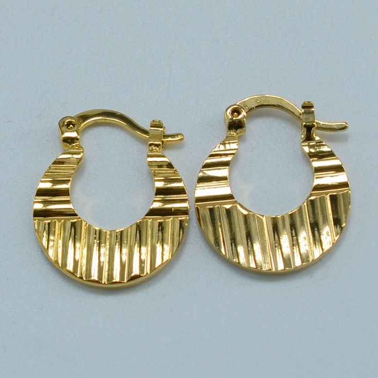 1.99$ Wholesale Baby Earrings - Gold Plated Kids Earrings Fashion Jewelry small gold earrings girls,GP earrings(SIZE 1.9cm)