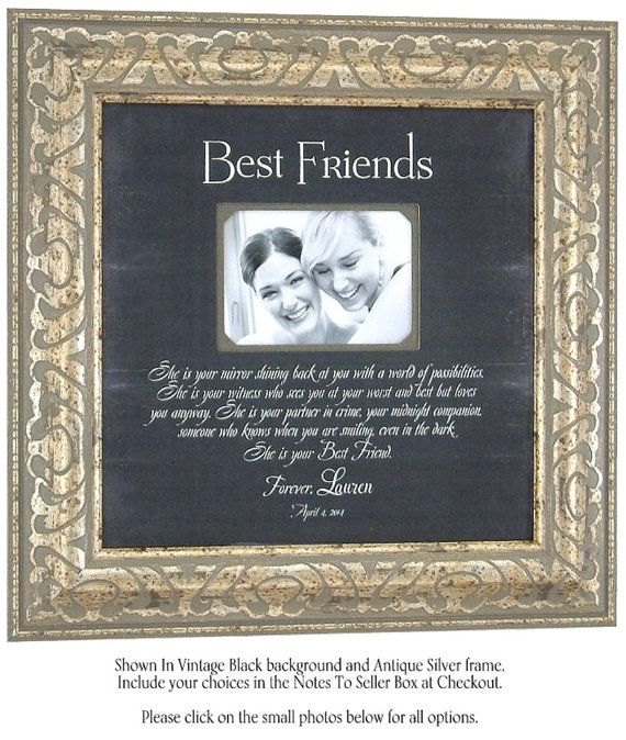 Best Friends Maid Of Honor Sisters Gift Wedding Personalized Picture Frame By PhotoFrameOriginals