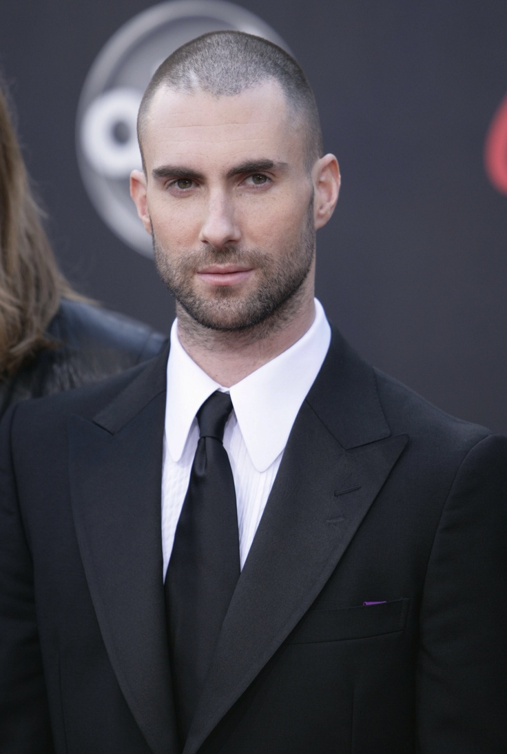 Adam Levine - he is even beautiful with a shaved head.