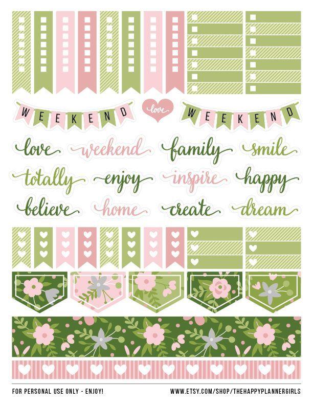 Lovely spring #stickers for #HappyPlanner