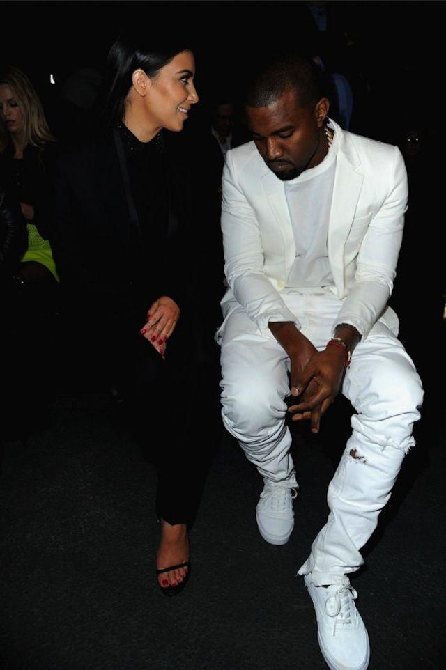 Kanye West wearing Vans Era