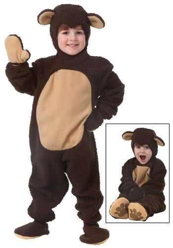Who would't want to cuddle with this tiny and cute little brown bear? This Toddler Bear Costume is a great storybook character costume for your little one.