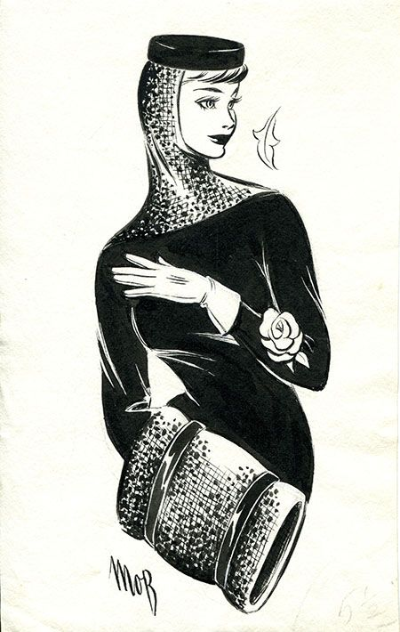 Margaret Oliver Brown fashion illustration (archive reference: DC/51/2/20).