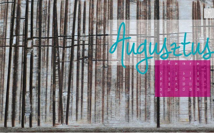 Ingyen letölthető 2015. augusztusi naptár háttérkép - Masni / Free desktop calendar to download August 2015