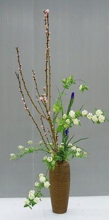 Beautiful Ikebana - I like the different flower colors.
