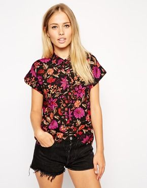 ASOS+Cropped+Blouse+in+Autumn+Floral+Print
