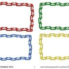 Check out these FREE linking chain labels.  There are four small frames per page (red, yellow, blue, and green). This page is in a pdf format for e...: Borders Fram, Frames Printable, Teacher Forms Fonts Labels, Clip Art Fonts, Frames Fonts, Chains, Tpt Clipart, Free Clipart, Digital Clipart