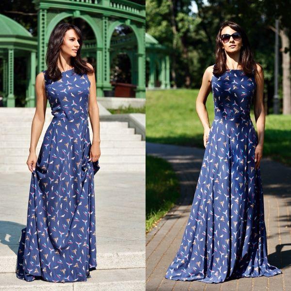 Plus Size 2016 Women Summer Dress Print Maxi Dress O-Neck Sleeveless Dresses Boho Sexy Party Long Dress Vestidos alishoppbrasil