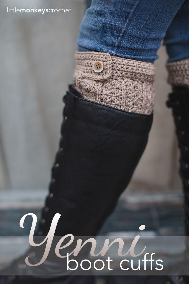 Crochet Hat Pattern With Cuff : Yenni Crochet Boot Cuffs Free Slouchy Hat Crochet ...