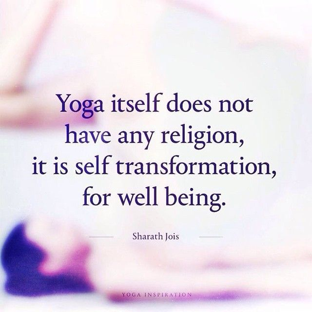 Yoga ... is self transformation, for well being.