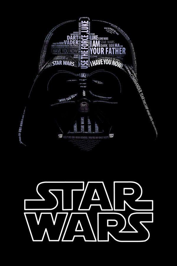 Darth Vader Typo Portrait by Vladislav Poliakov