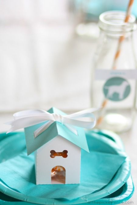 Puppy party place setting