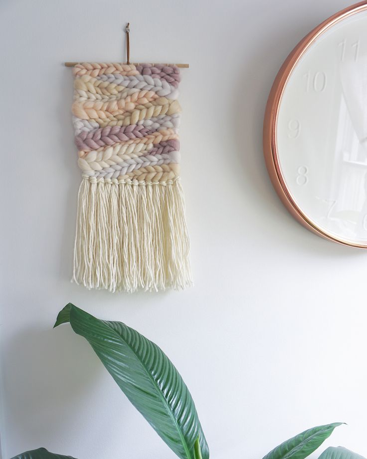 """494 Likes, 11 Comments - WEAVING & SPINNING KITS (@theunusualpear) on Instagram: """"I made new weaving 🌸 Woven with one of my nude roving bundles and the medium sized loom ✨"""""""