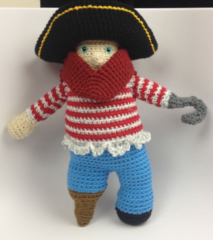 Peg Leg Pete Pirate Doll I crocheted a pirate to bring with me on The Crochet Cruises as our mascot. Peg Leg Pete is a combination of skill building from other projects, picture research and understanding stitches.  Research Firstly, I researched common colours for pirates on Google. I wanted …
