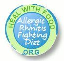 Diet for allergic rhinitis or hay fever