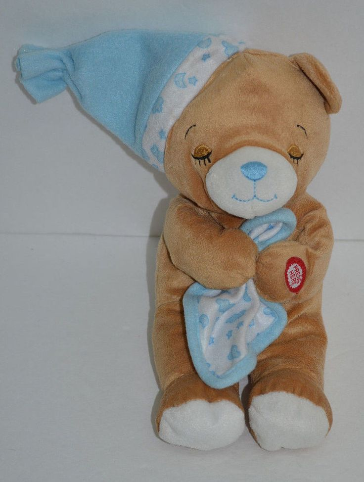 "Hugfun Now Lay Me Down Praying Teddy Bear Plush Brown Blue Sleeping Cap 10"" #Hugfun http://stores.ebay.com/Lost-Loves-Toy-Chest/_i.html?image2.x=0&image2.y=0&_nkw=now+lay"